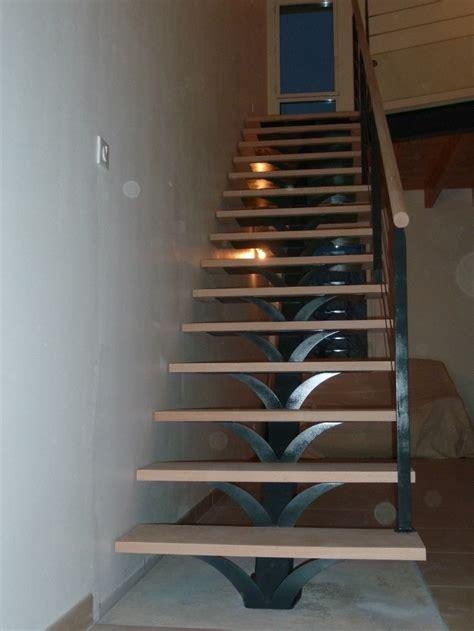 escalier droit marches bois limon central m 233 tal pose 224
