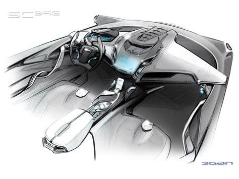 Ford Iosis Max Concept Interior Design Sketch