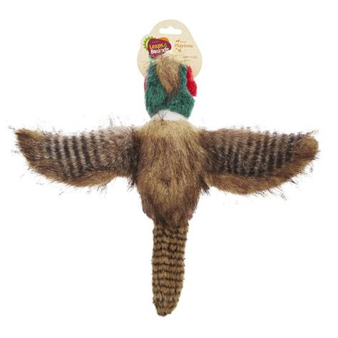 leaps bounds medium wildlife pheasant plush toy petco