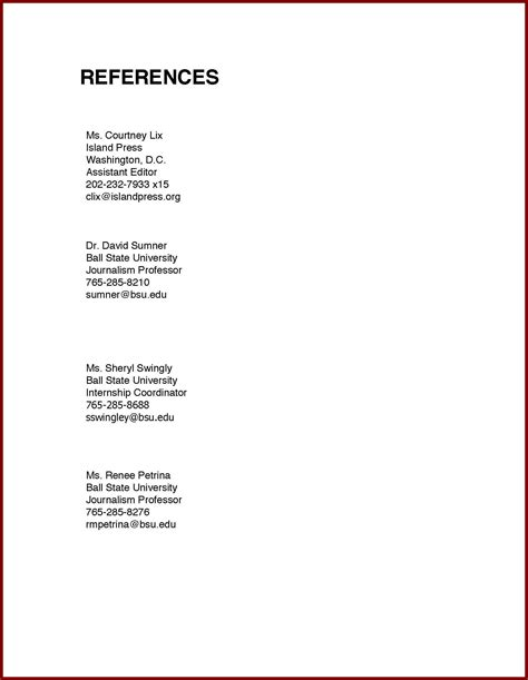 layout for resume references sidemcicek