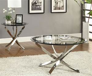 Amazing coffee table with using round metal coffee for Glass top circle coffee table