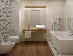 Salle de bain nature entre pierres bois et couleurs for Salle de bain design avec fil métallique décoratif