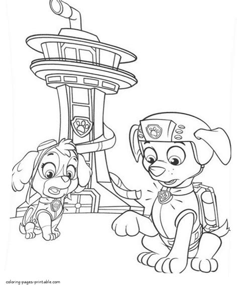 Kleurplaat Paw Patrol Zuma by Printable Paw Patrol Coloring Pages And Zuma