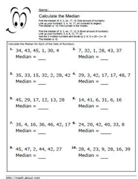 how to calculate the median and mode