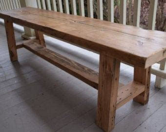 wood bench etsy