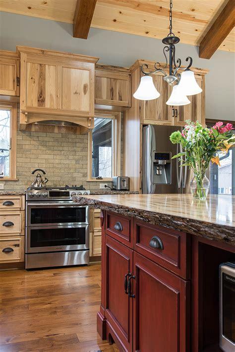 hickory kitchen island rustic hickory kitchen island wow