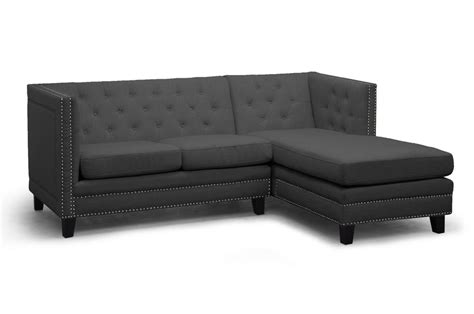 Gray Sectional Sofa Furniture by Baxton Studio Tsf 71016 Sectional Grey Parkis Gray Linen