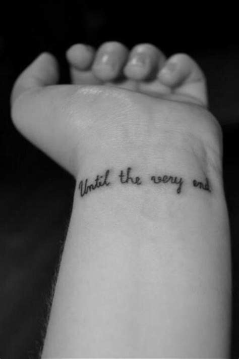 until the very end Harry Potter small wrist tattoo | Wrist