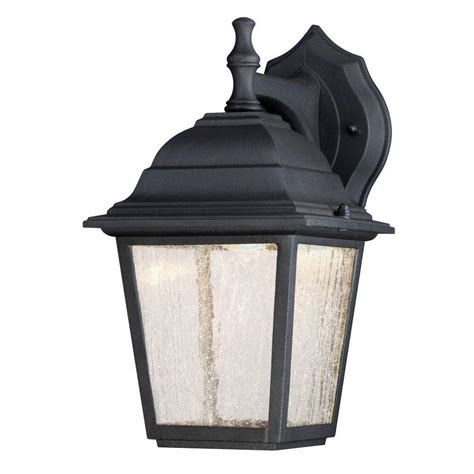 westinghouse 1 light black outdoor integrated led wall