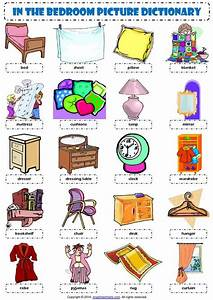 esl vocabulario ingles and dormitorios on pinterest With furniture in the living room worksheet