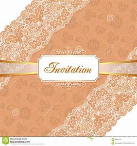 elegant vintage invitation stock vector image of With vintage wedding invitation with lace free vector