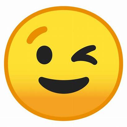 Emoji Wink Android Transparent Clipart Face Winking