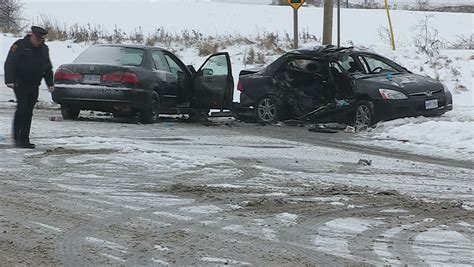 Serious Auto Accident, Non-fatal Stock Footage Video