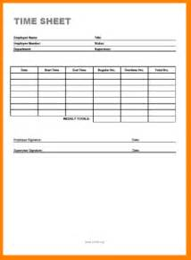 Simple Weekly Time Sheets Templates