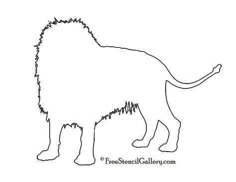 Lion Silhouette Stencil Free Stencil Gallery