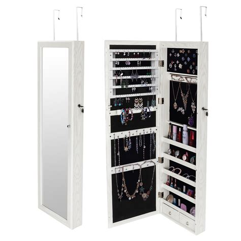The Door Mirrored Hanging Jewelry Armoire Ktaxon Mirrored Hanging Jewelry Cabinet Armoire Organizer