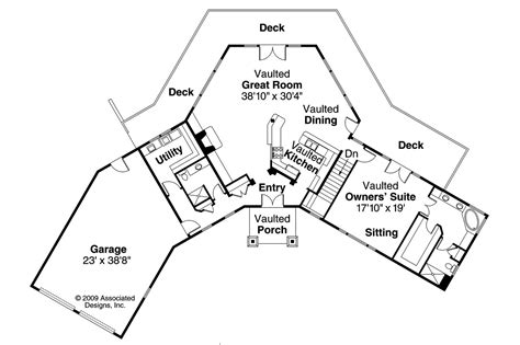 V Shaped Home Design : Lodge Style House Plans