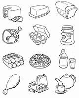 Healthy Coloring Pages Printable Items Meals Sheets Visit Worksheets sketch template