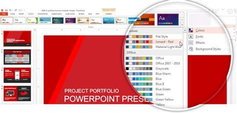 powerpoint themes   custom color palette