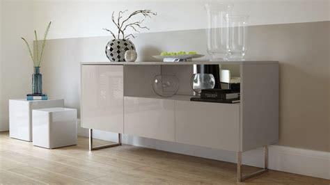 Gloss Sideboards Furniture by Contemporary Grey High Gloss Sideboard Danetti Uk