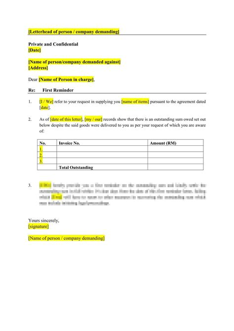 debt recovery letter  demand templates burgielaw