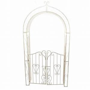 Arche De Jardin En Fer Forgé : arche de jardin lila style fer forg ecru meuble d ~ Premium-room.com Idées de Décoration