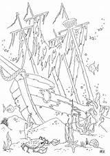 Coloring Shipwreck Ship Drawing Tattoo Sunken Pirate Underwater Adult Drawings Sea Malvorlage Ocean Colouring Designlooter Treasure Hasenkopf Gratis Printable Chest sketch template