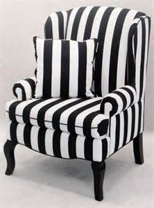 Black And White Wing Chair black and white striped encore wingback chair 125