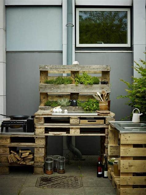 outdoor kueche aus paletten selber bauen home design