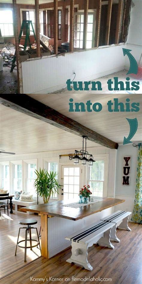 Kitchen Living Room Half Wall by Amazing Half Wall Breakfast Bar Table Remodelaholic