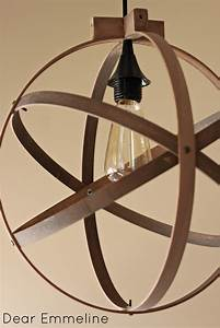 Weathered Wood Light Fixture Diy Easy Embroidery Hoop Pendant