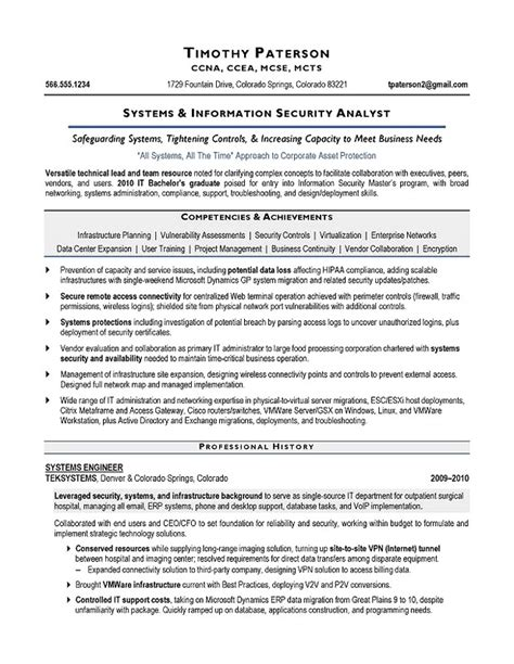 Security Resume Sles by Information Security Analyst Resume