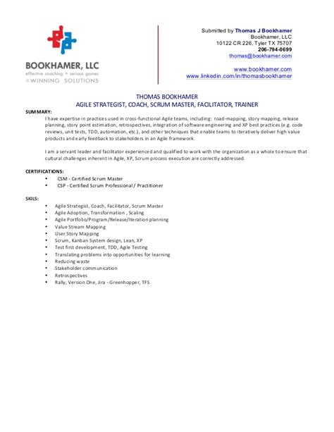 Agile Scrum Master Resume by Bookhamer Resume