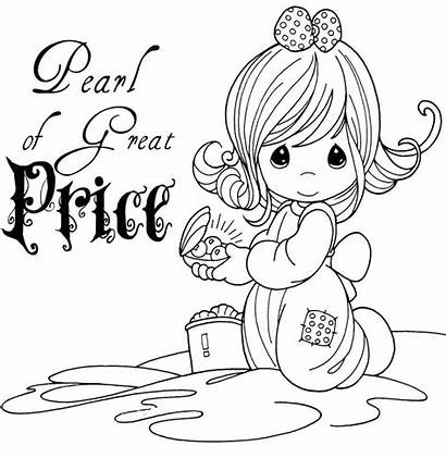 Coloring Pearl Precious Moments Pages Parable Sheets