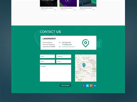 contact us page 12 beautiful list of contact us pages with flat design themesurface
