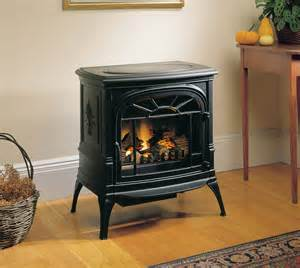 Electric Log Fireplace Heater by Vermont Castings Cast Iron Addison Freestanding Electric