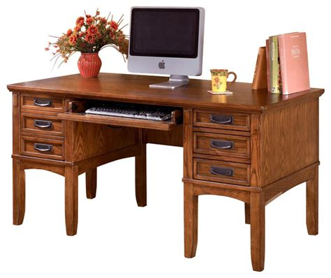Mission Style 7 Drawer Desk  Craftsman  Desks And Hutches. Student Desk Labels. Small Home Office Desk. Night Tables. On The Front Desk. Childrens School Desk. Unique Desk. Ikea Cabinet Desk. Table Caddies