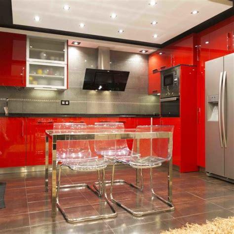 cocina rojo brillo cocinas suarco fabrica  diseno de