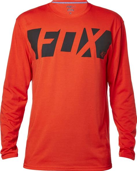 fox motocross t shirts fox racing mens cease long sleeve tech motocross short