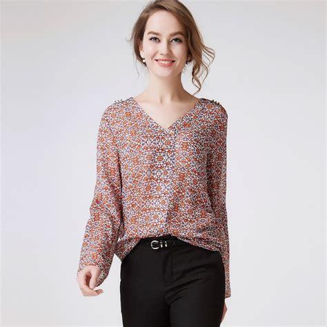 plus size silk blouses 2016 autumn silk blouse shirts plus