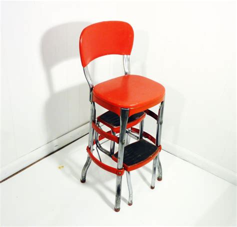 target cosco retro chair with step stool retro cosco 50s vintage step stool kitchen stool chair
