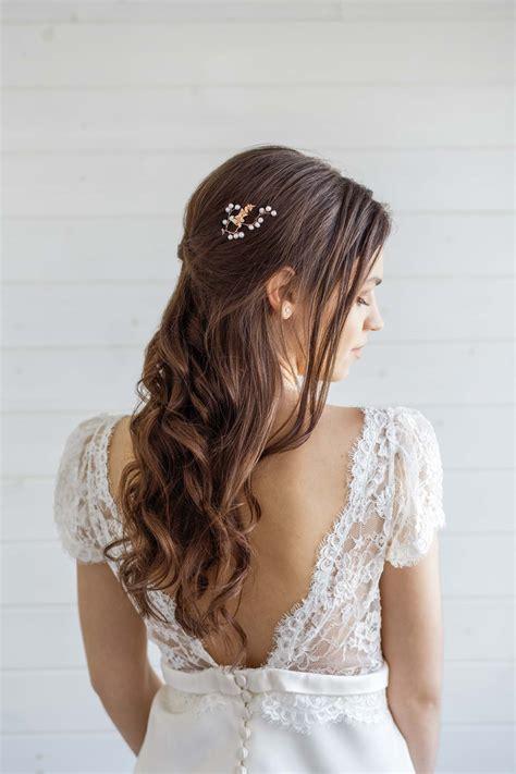 Orchid Bridal Hair Pin Victoria Millesime