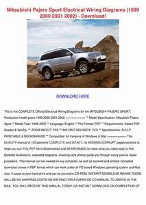 Mitsubishi Pajero Sport Electrical Wiring Dia By