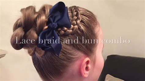 Lace Braid And Bun Combo Hairstyle By Two Little Girls