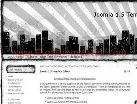 Blackand White Template Joomla Mediafire by Free City Black White Web2 0 Joomla Template Freethemes4all