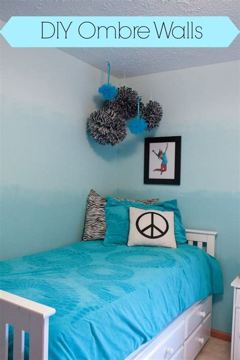 paint  ombre wall teenage girl bedroom decor