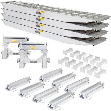 used step deck loading rs 4 bunk load leveler step drop deck trailer modular r 23