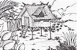 Coloring Forest Chinese Pages Bamboo Cabin Children Drawing Native Popular Coloringhome Paintingvalley Comments sketch template
