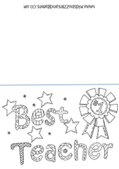 teacher card coloring sheet kids puzzles  games