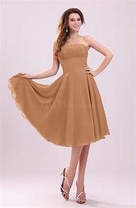 light brown simple a line sleeveless backless pleated With backless wedding guest dresses